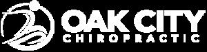 Oak City Chiropractic White Logo