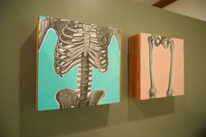 oak city chiropractic skeleton paintings
