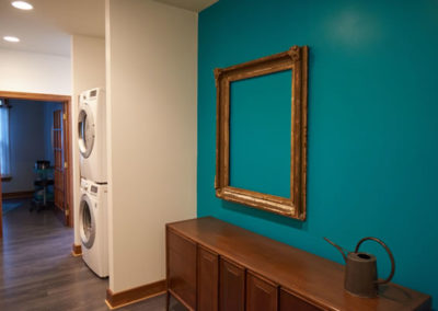 oak city chiropractic teal wall