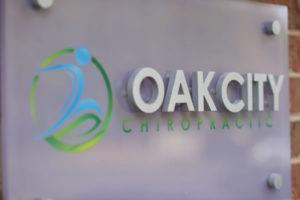 oak city chiropractic sign