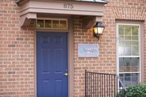 Front door of Oak City Chiropractic