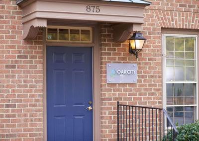 oak city chiropractic front door
